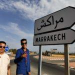 Señal de tráfico de Marrakech